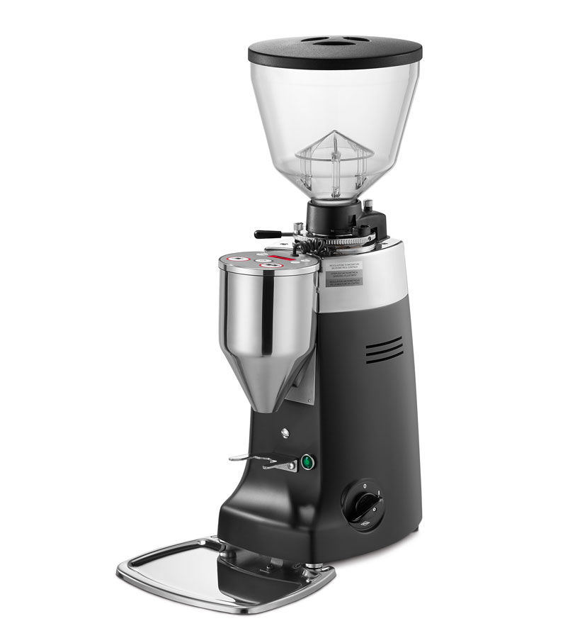 Kony Electronic  Electronic grinder-doser with conical grinding blades and slow speed rotation suitable for medium consumption.