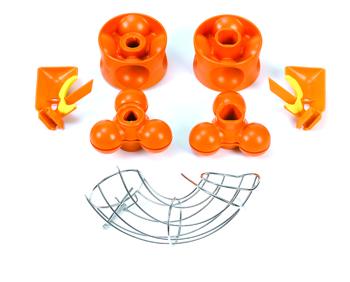 Kit S Speed Pro   Perfect to squeeze smaller sized fruit, specially small oranges, tangerines and limes; with diameters from 67 mm to 45 mm. Easy installation and disassembly.