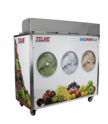 Gelshow 2 x 3, 4 x 3   They are multisectoral gelato makers directed to different activities: catering, cake and pastry shops and all those activities offering fresh-made gelato as a complementary product.