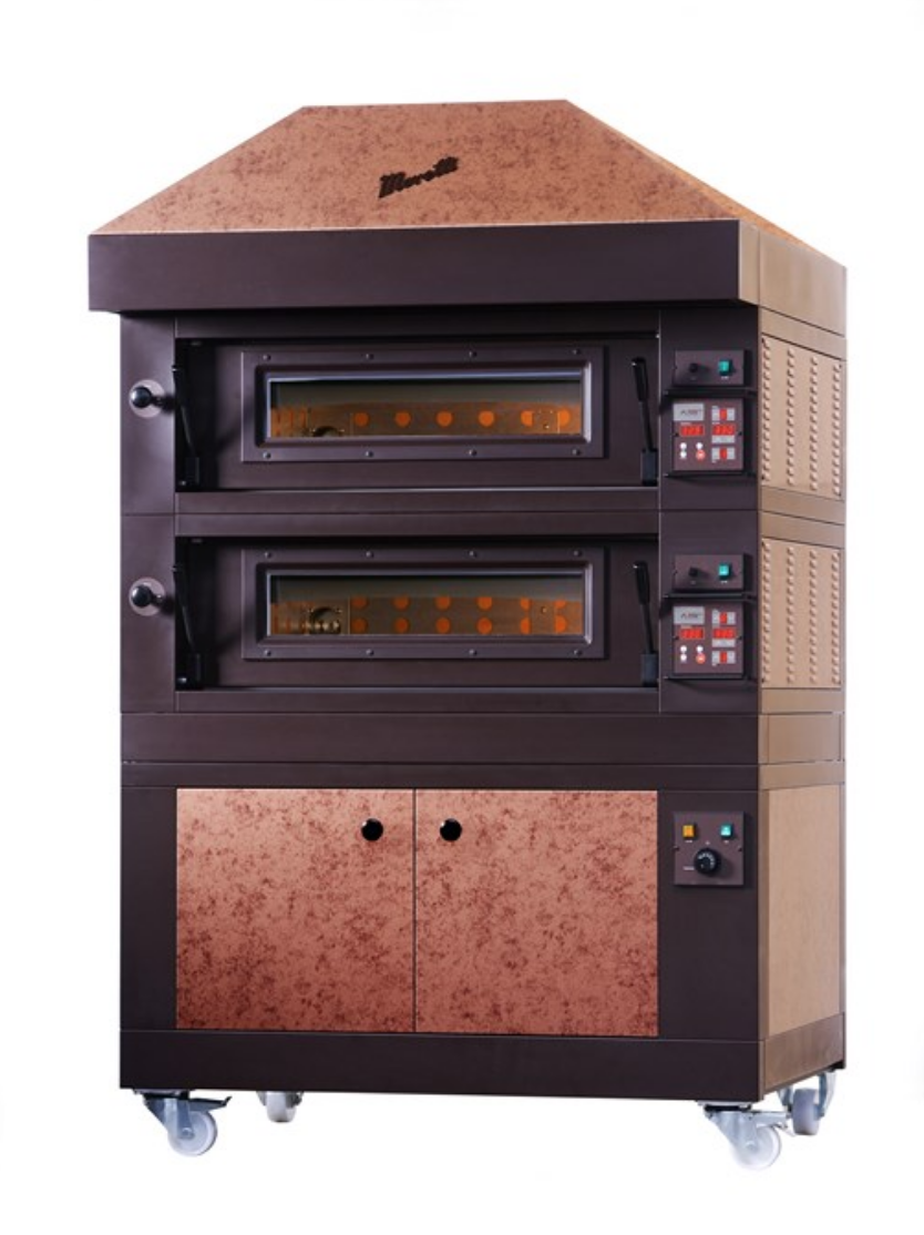 Amalfi special vintage version   WHOLE REFRACTORY BRICK WITH ELECTRONIC CONTROL  Available in 4 Sizes and in 1, 2 or 3 Decks