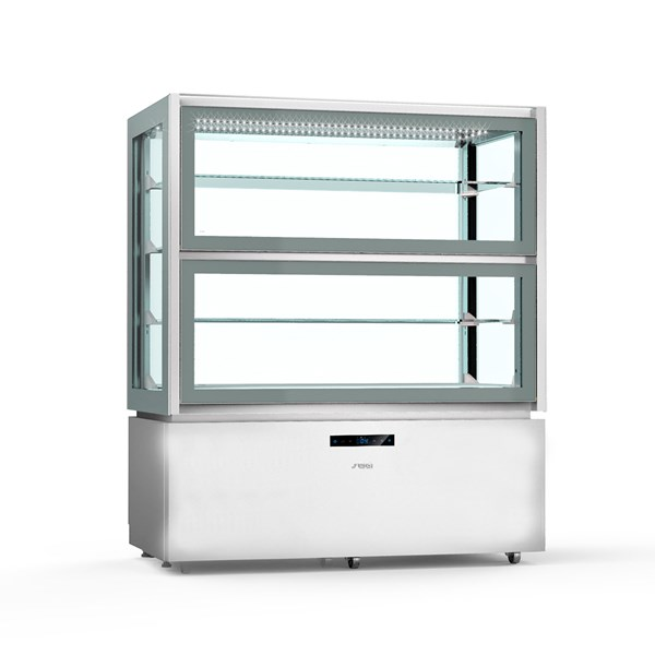 KP12Q2    UPRIGHT REFR.DISPLAY UNIT+2/+10°C,LOWER ANTI-FING.   Temperature ranges, °C+2/+10  Dimensions (LxDxH), cm 120 x 66 x 143