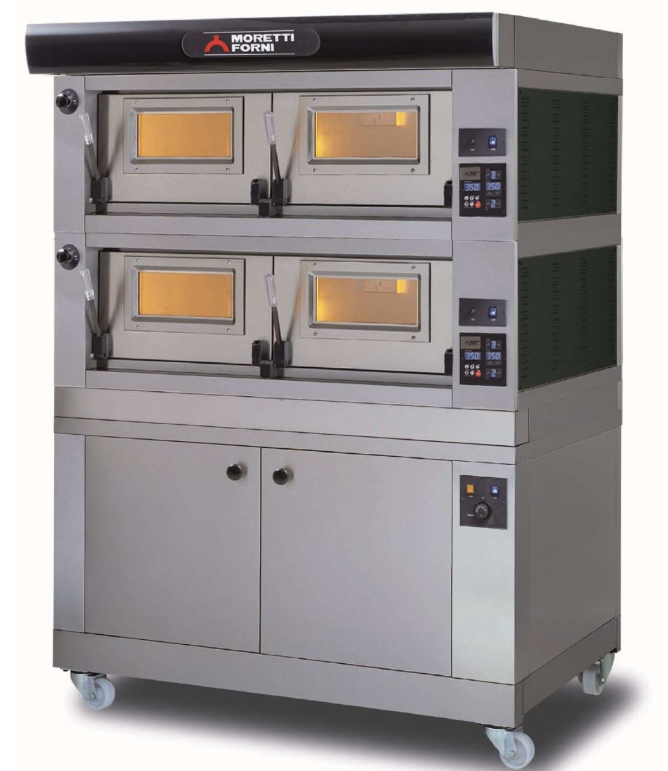 P120E   120 CM WIDE DOUBLE-DOOR WITH ELECTRONIC CONTROL  Available in 3 Sizes and in 1, 2 or 3 Decks