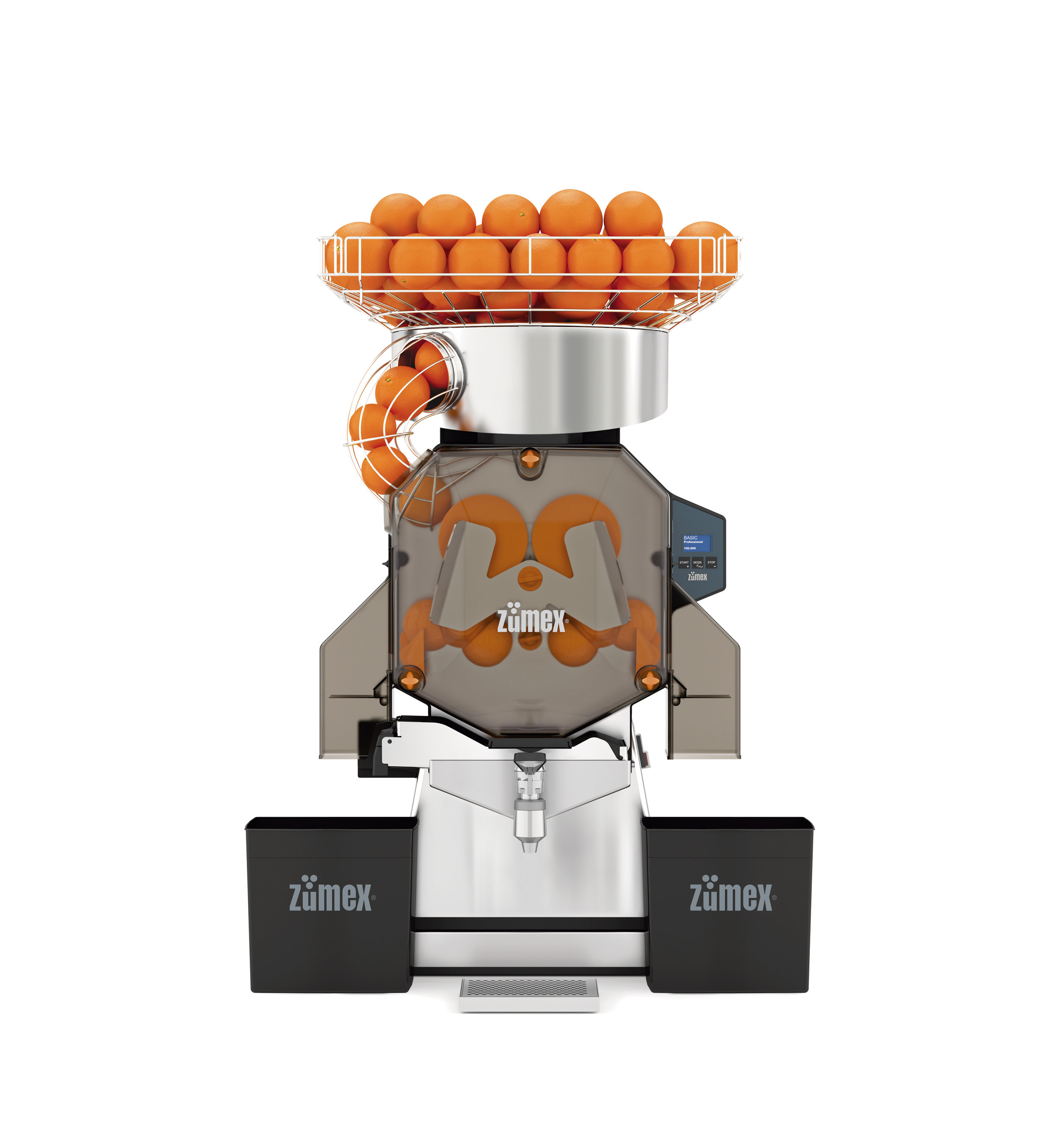 Speed S +plus (Countertop)   The preferred industrial juicer of all the main supermarket and restaurant chains. Equipped to provide greater autonomy and easy cleaning.