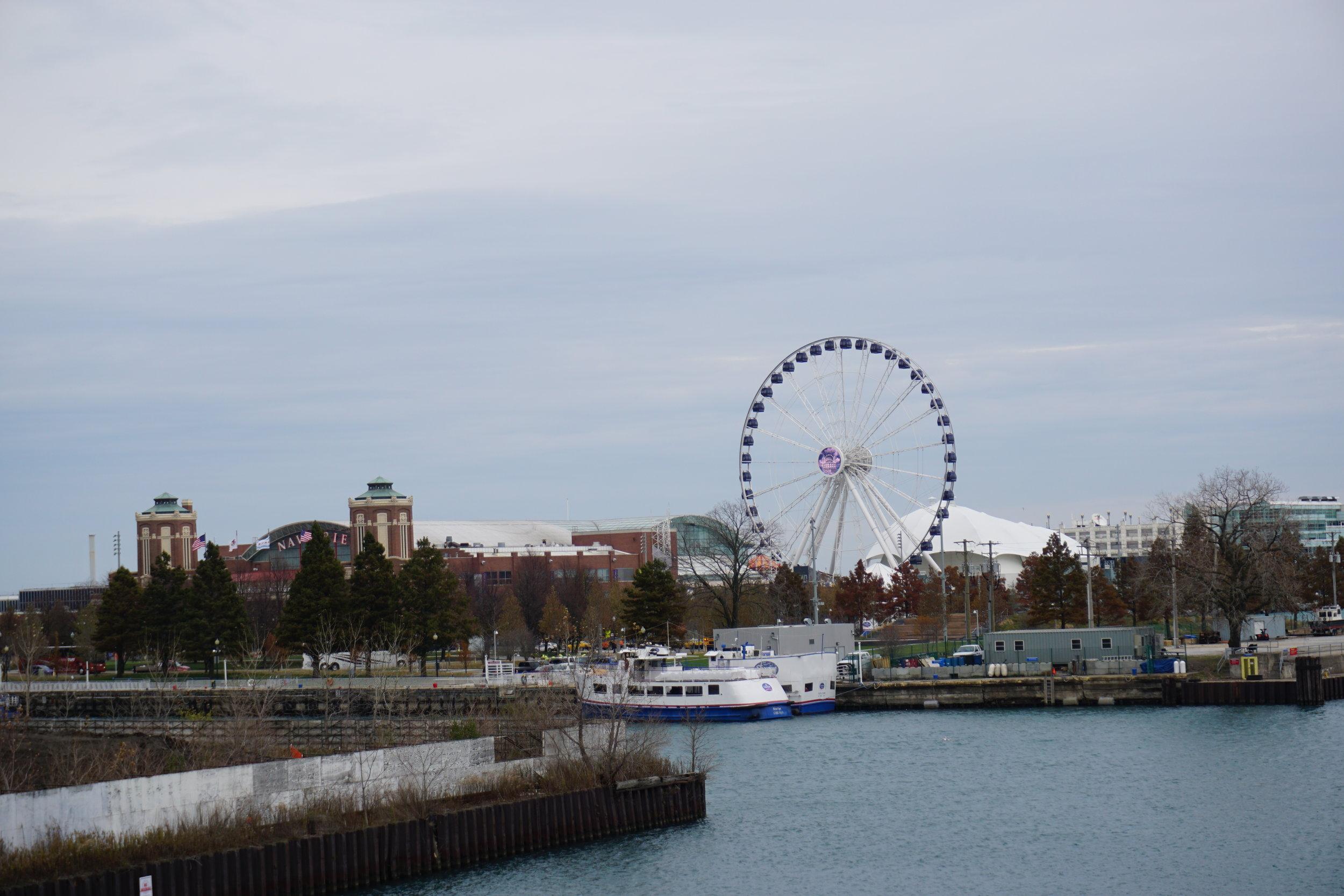 The Centennial Ferris Wheel at Navy Pier.