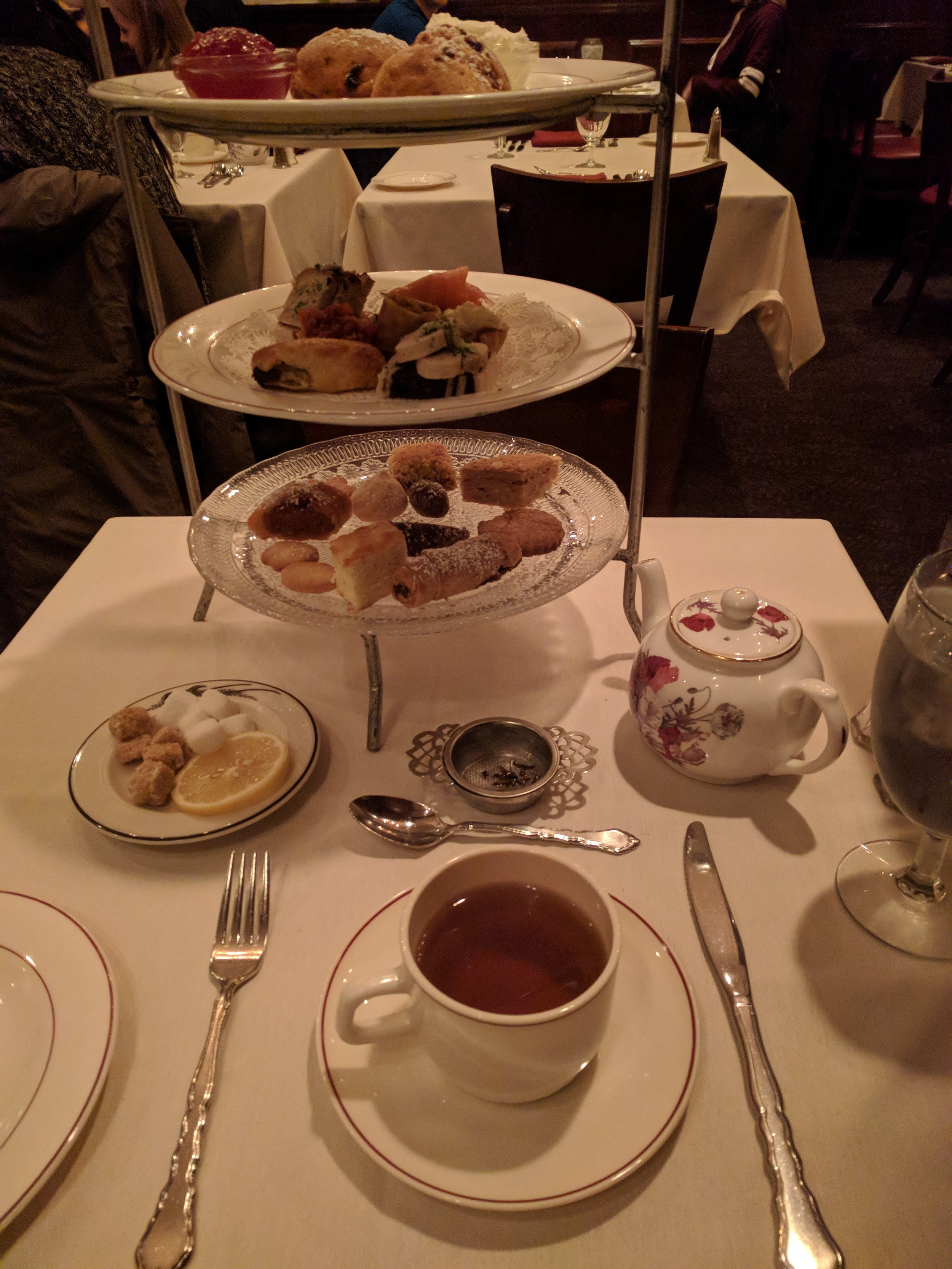 Full Afternoon Tea Service at Russian Tea Time.