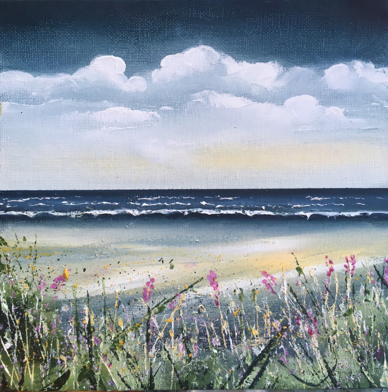 """""""Woolacombe"""" Oil on Panel. Sold"""