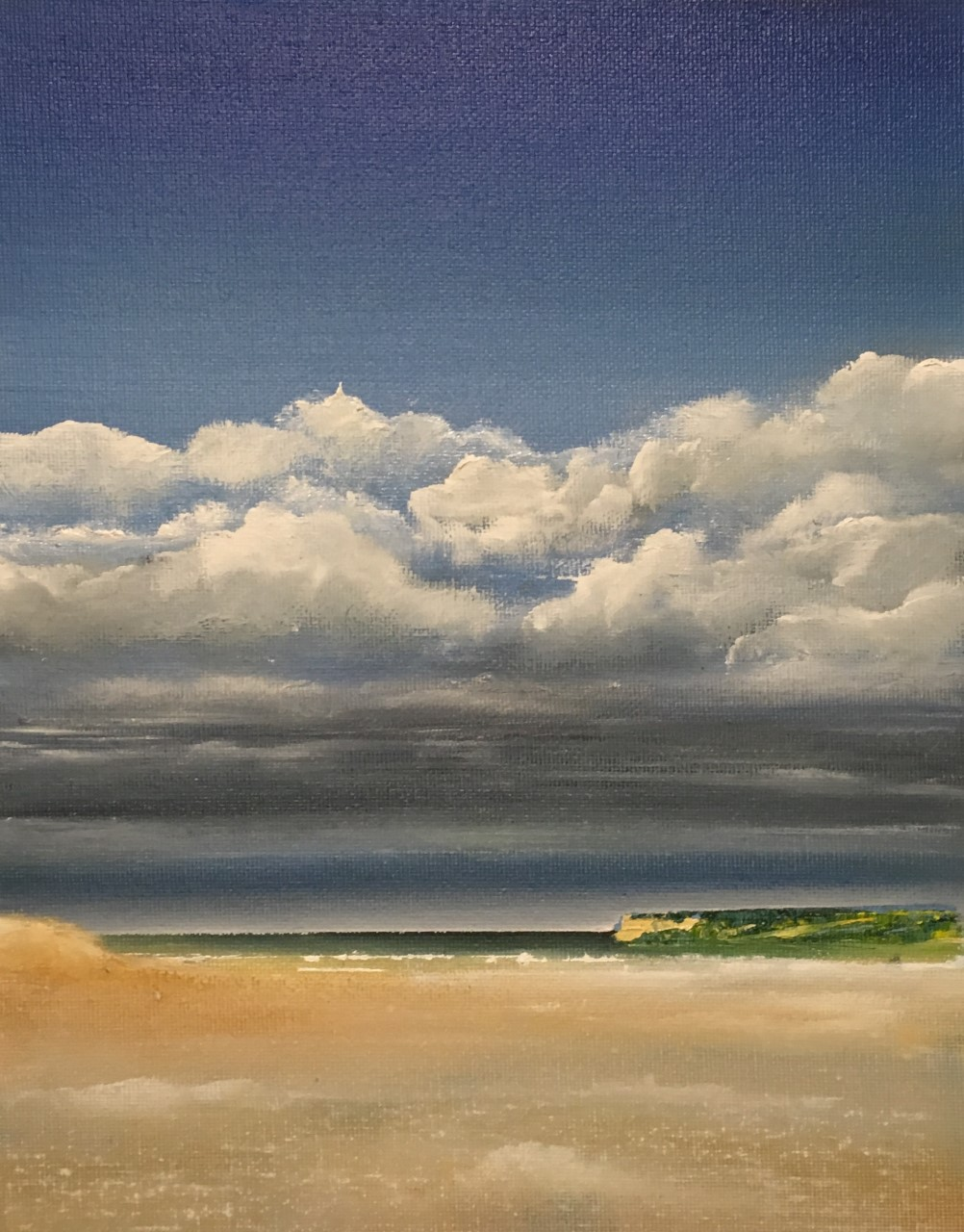 """""""Rolling Over Polzeath"""" Oil on Panel. Sold"""
