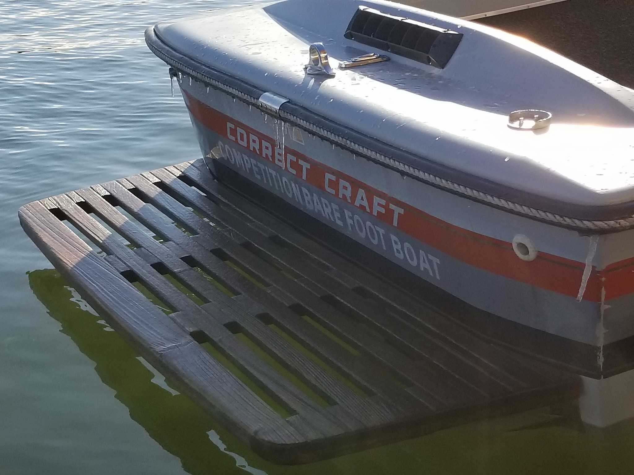 Ice on the Barefoot Nautique used in 2018