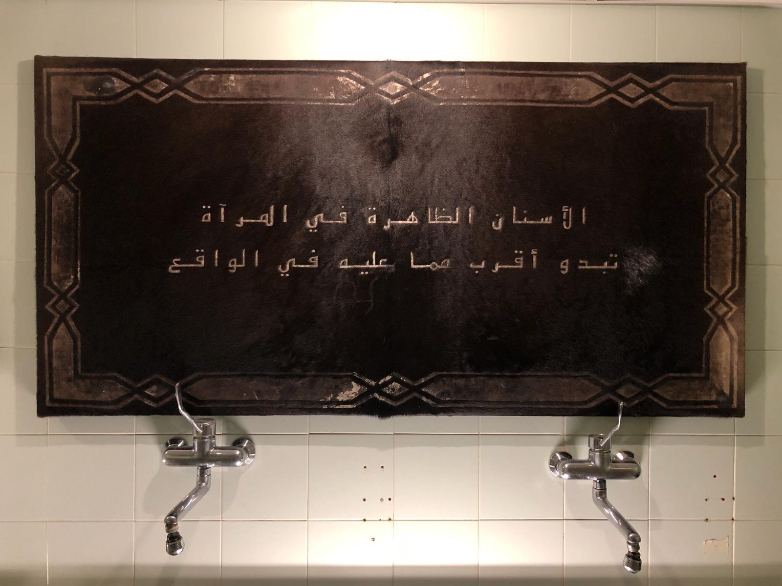 Skin Mirror II, Fadi Al-Hamwi, Cow Hide, 2018