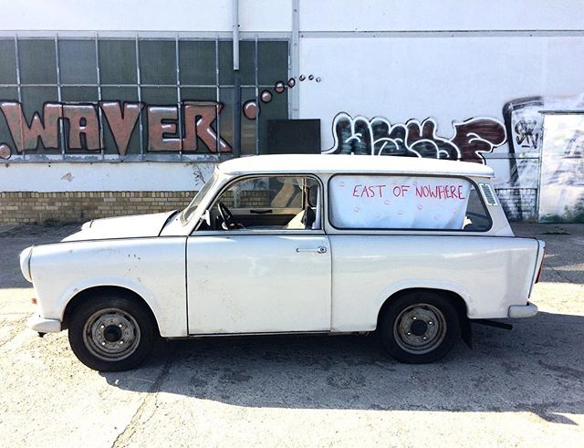 East of Elsewhere mascot and not-so-trusty transport service 'Trabby' is back on the road! #eastofnowhere #trabant #ostalgie #arthandlersofinstagram