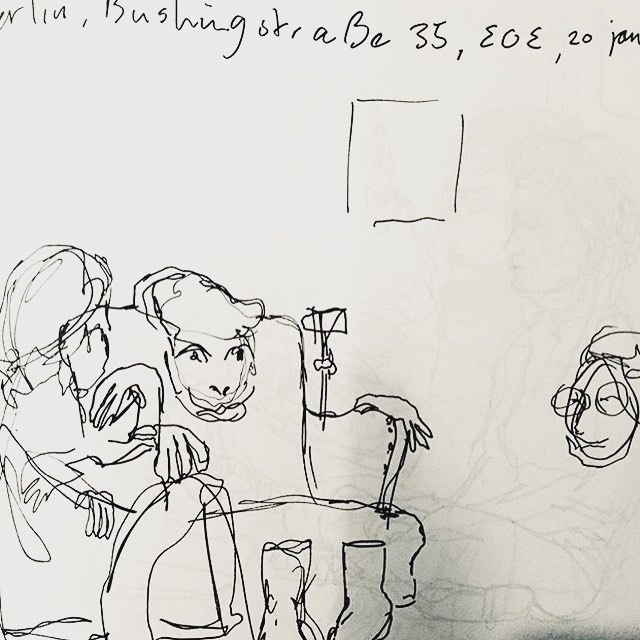 Reminiscing about our exhibition #icontainmultitudes. Made even more dreamy by these drawings that capture the poetry readings by artist @suzannevansoest.  #waltwhitman #icontradictmyself