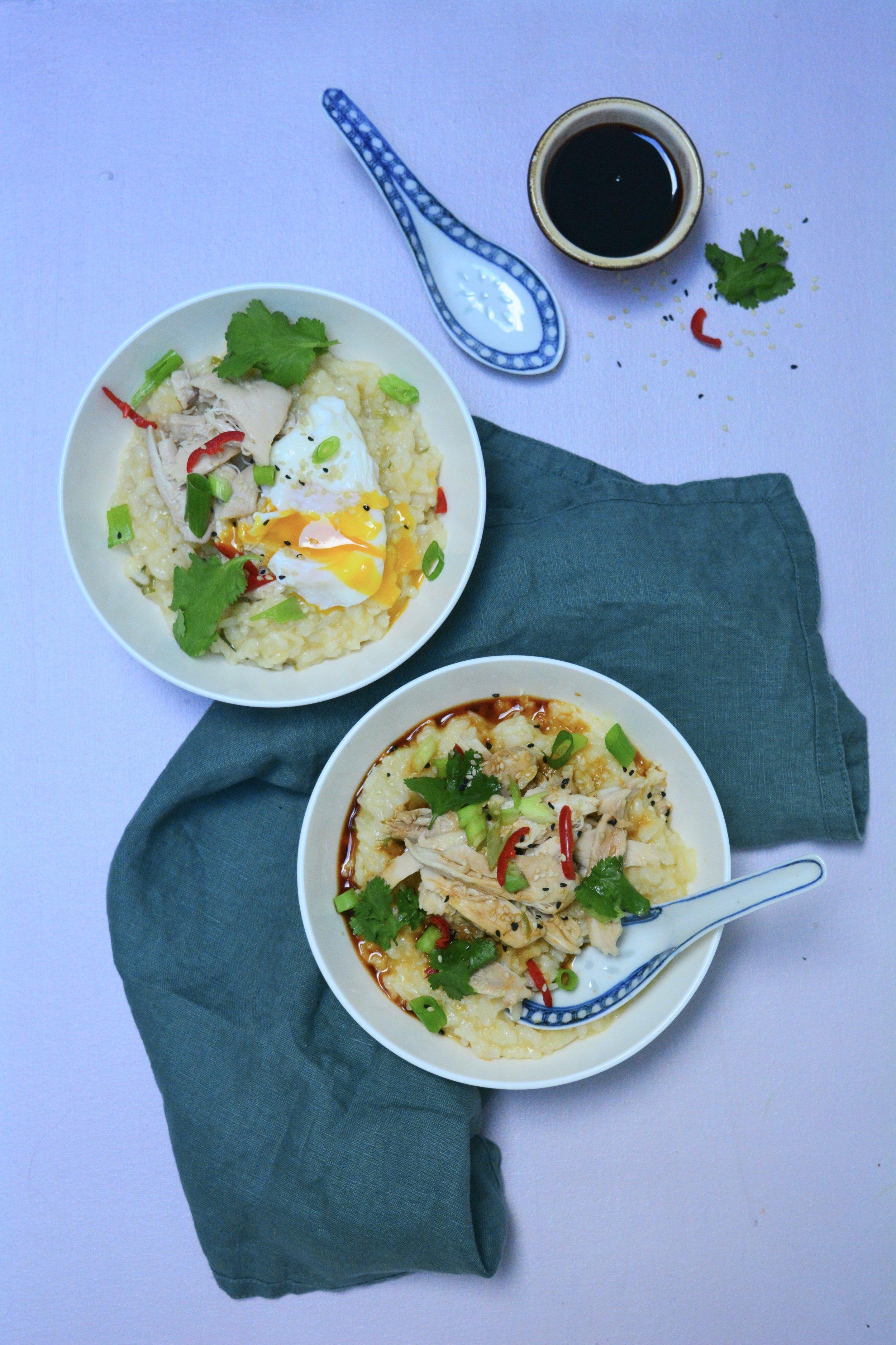Chicken & rice porridge - Desert Island Dishes
