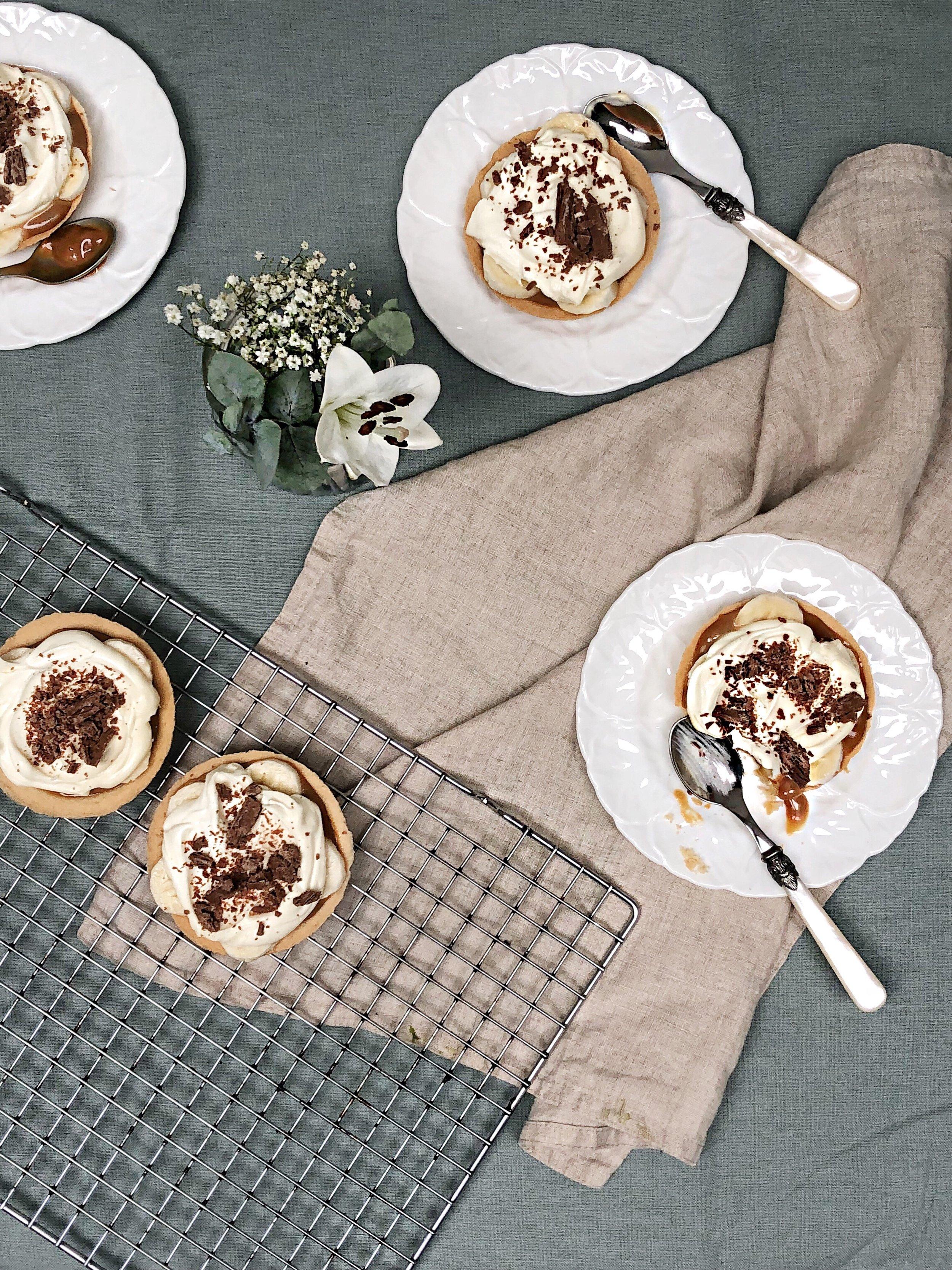 mini banoffee pie - desert island dishes - inspired by Gizzi Erskine - Margie Nomura