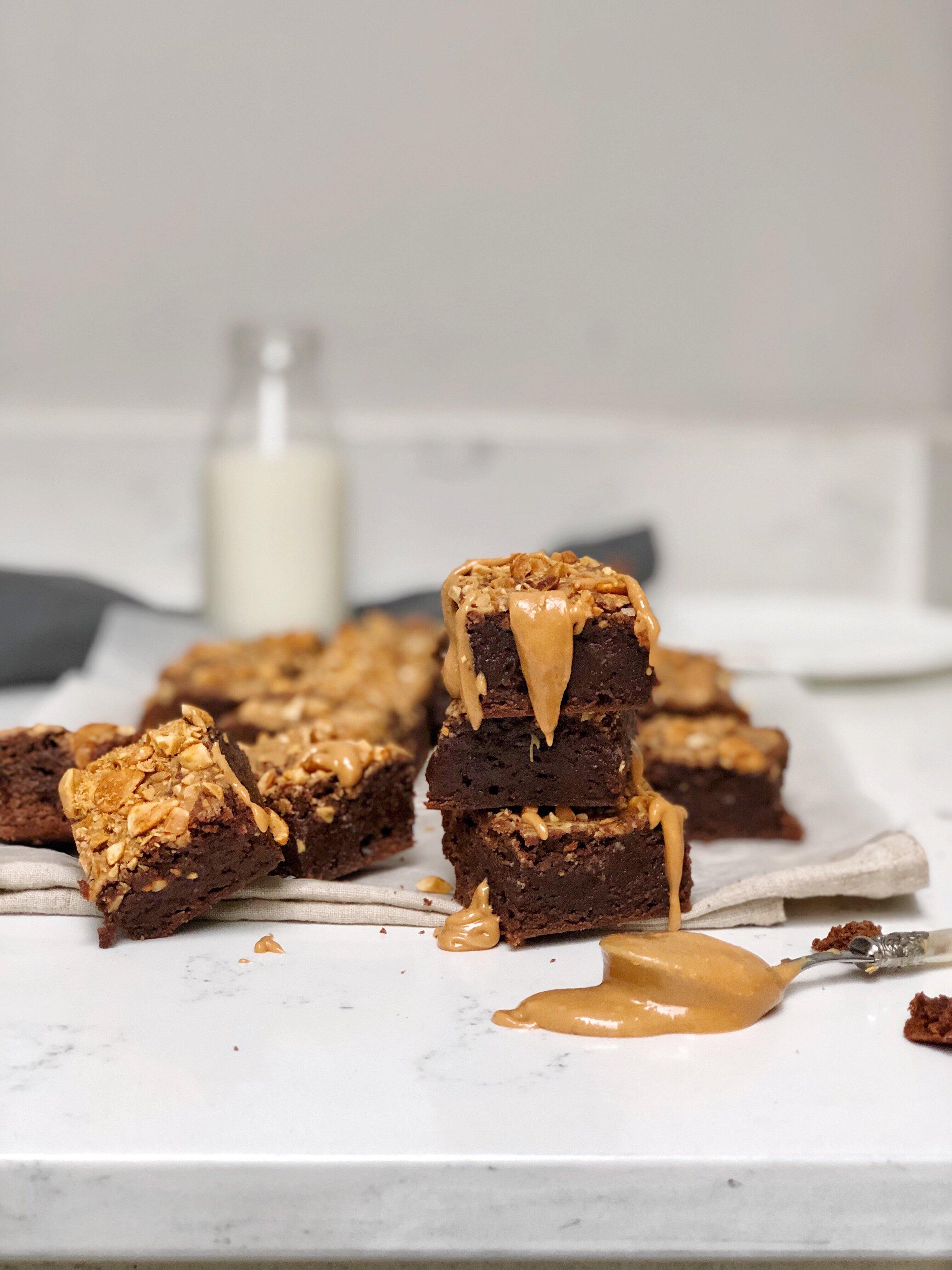 Tom Kerridge Peanut butter brownies