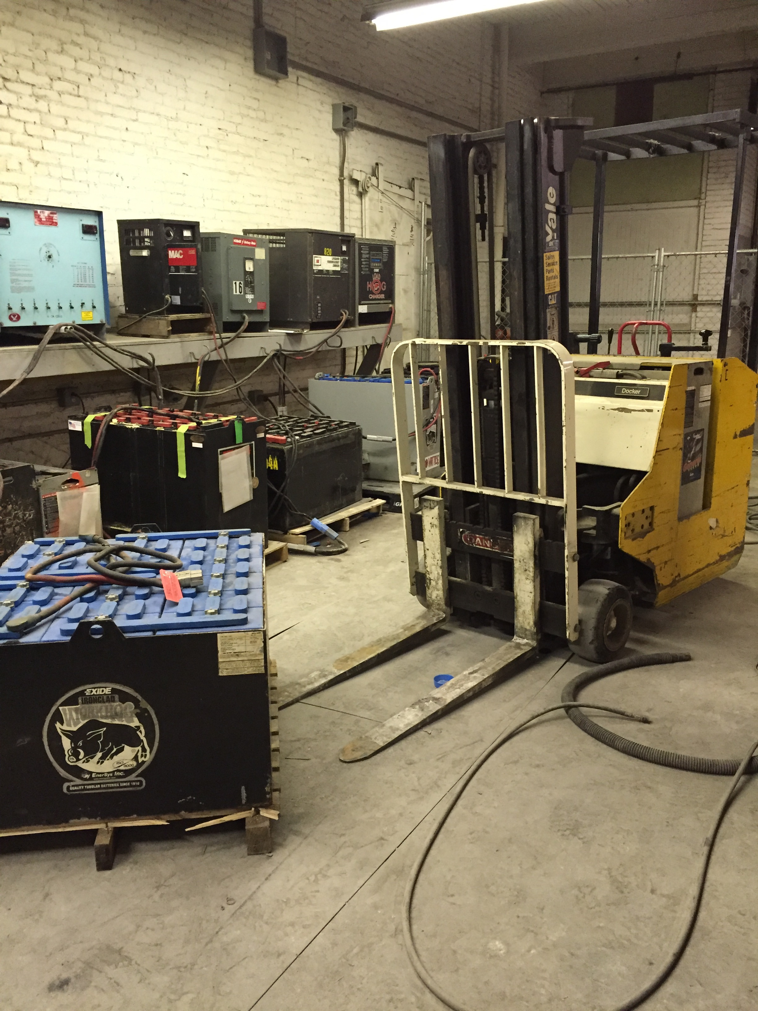 New England Battery provides service and repair for used industrial batteries.