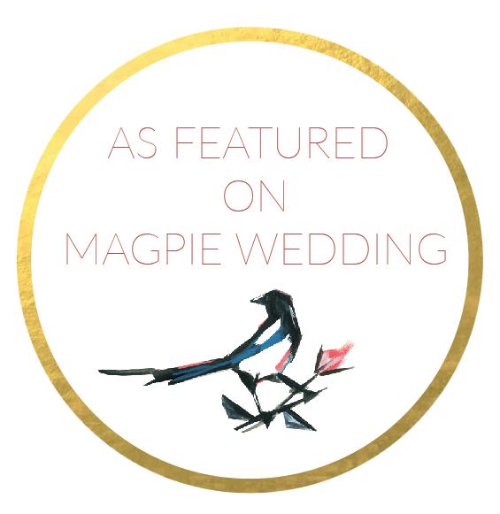 As featured on Magpie Wedding Bond Photography