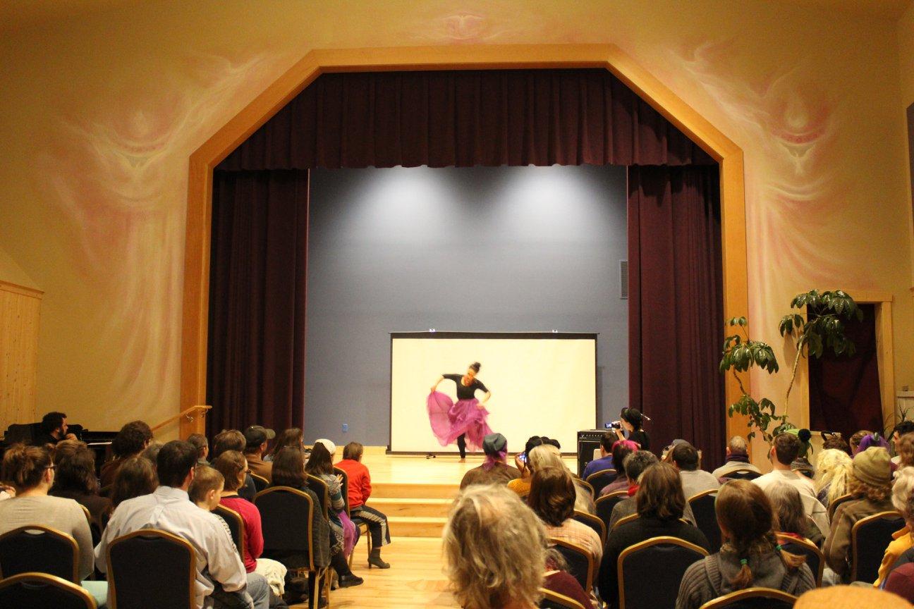 Rachel Wilson performs a traditional Bomba dance