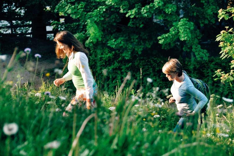 Gentle walks through flowered meadows.
