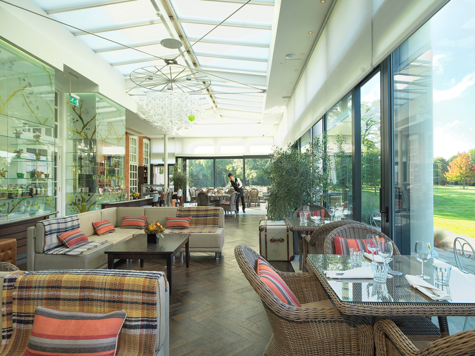 The Orangerie overlooking Cannizaro Park for shared parties of 2-20