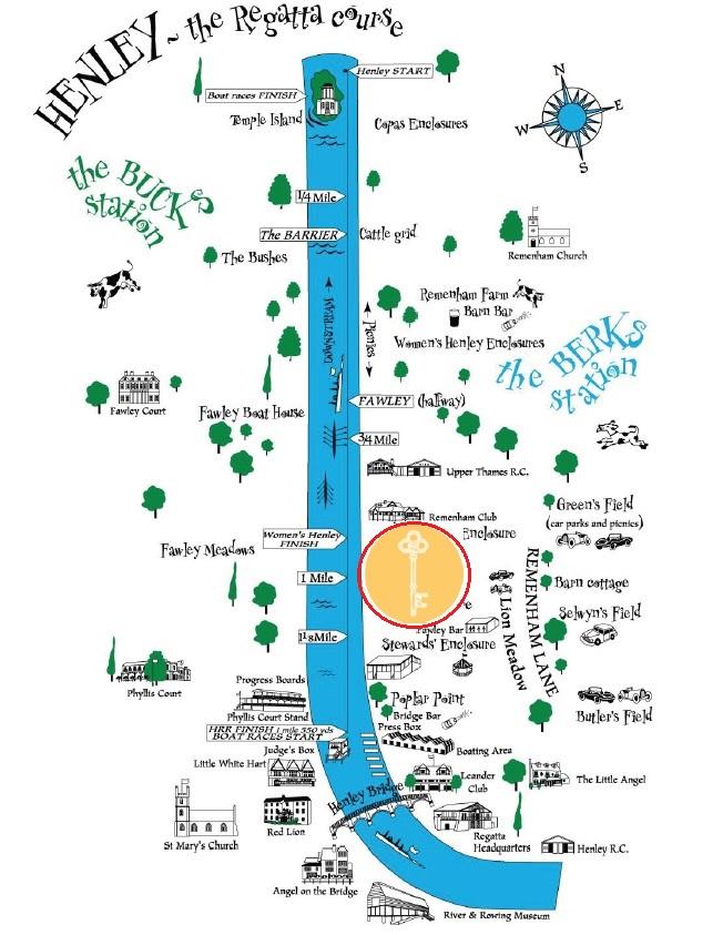 Henley royal regatta hidden garden map hospitality vip package