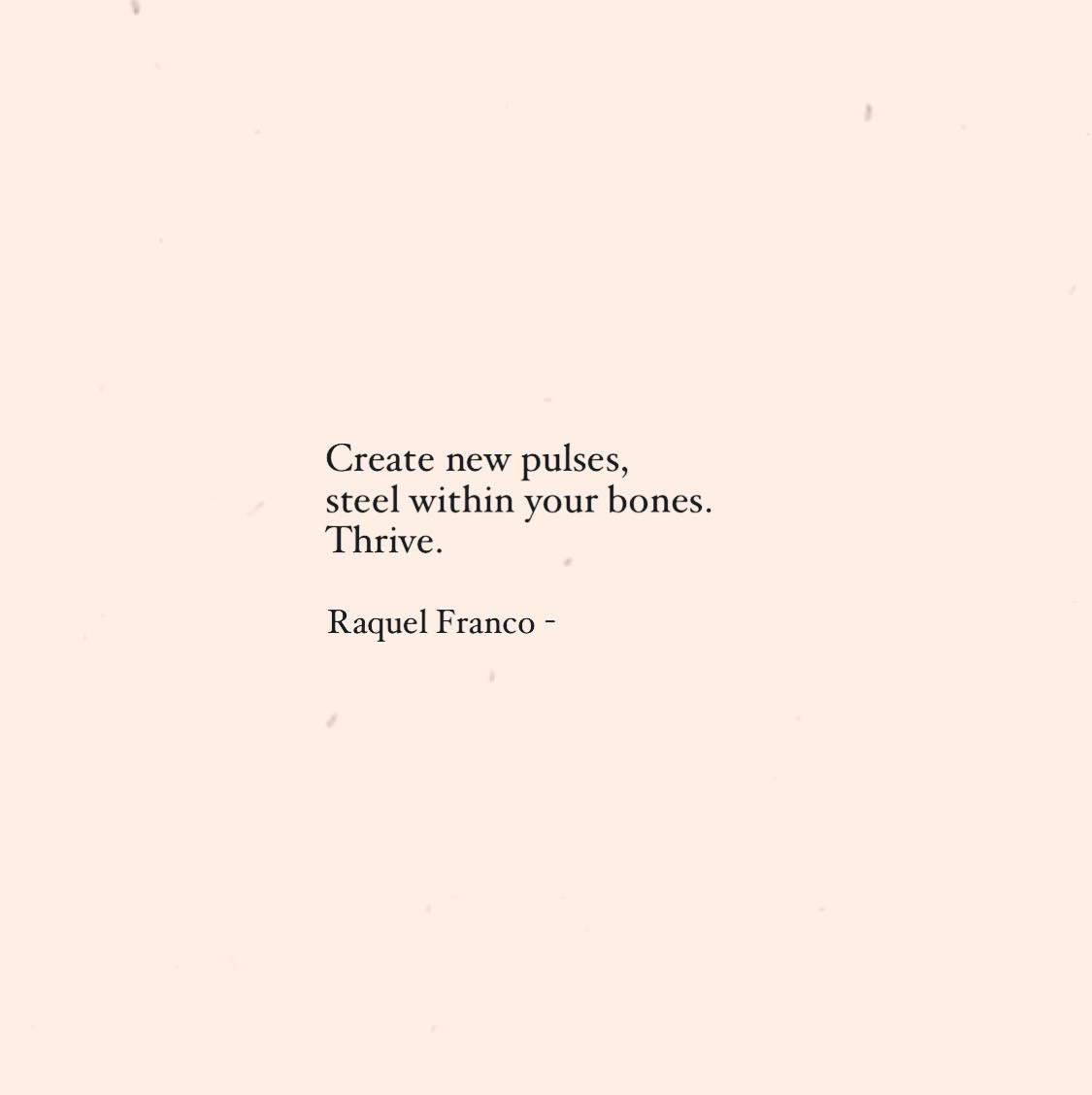 Poem by Raquel Franco