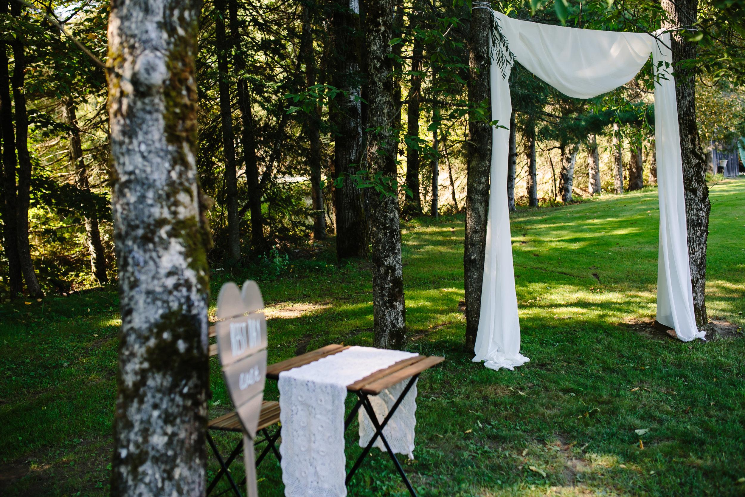 Farmhouse wedding ceremony
