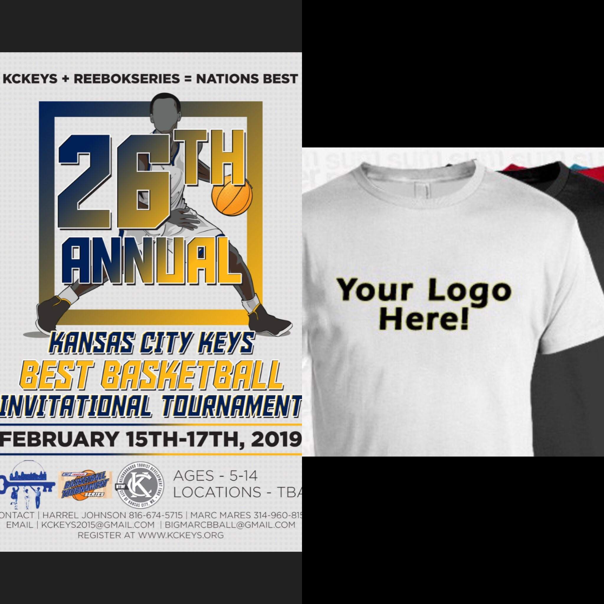 KC Keys 26th Best Basketball Invitational Tournament - The Kansas City Keys are looking for 10 companies to donate $100 for the KC Keys 26th Best Basketball Invitational Tournament. With the donation, your company will be advertised on our tournament t-shirt.