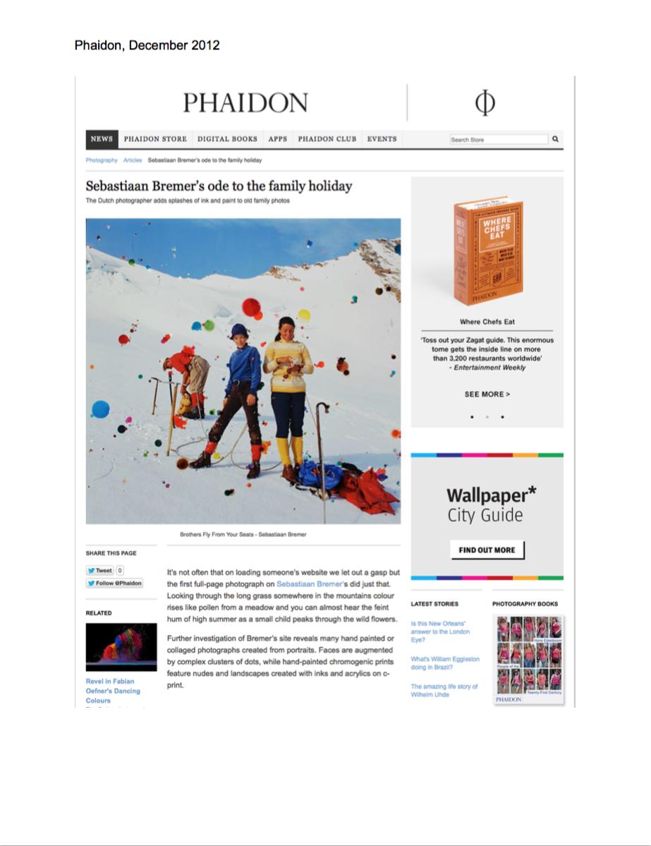 Phaidon:Sebastiaan Bremer's