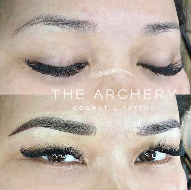 Combination brows by Jonelle (strokes & ombre).