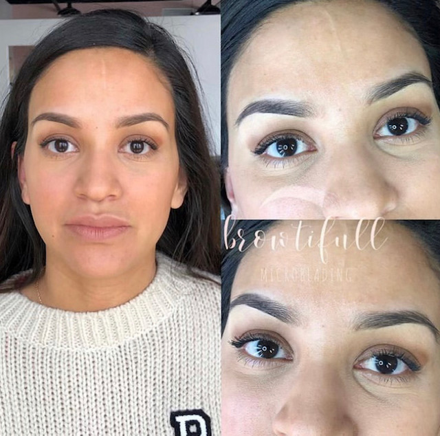 Healed ombre brows by Stacy.