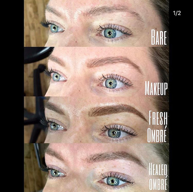 Ombre brow progression by Jonelle.