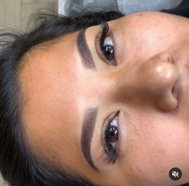 Ombre brows by Stacy.