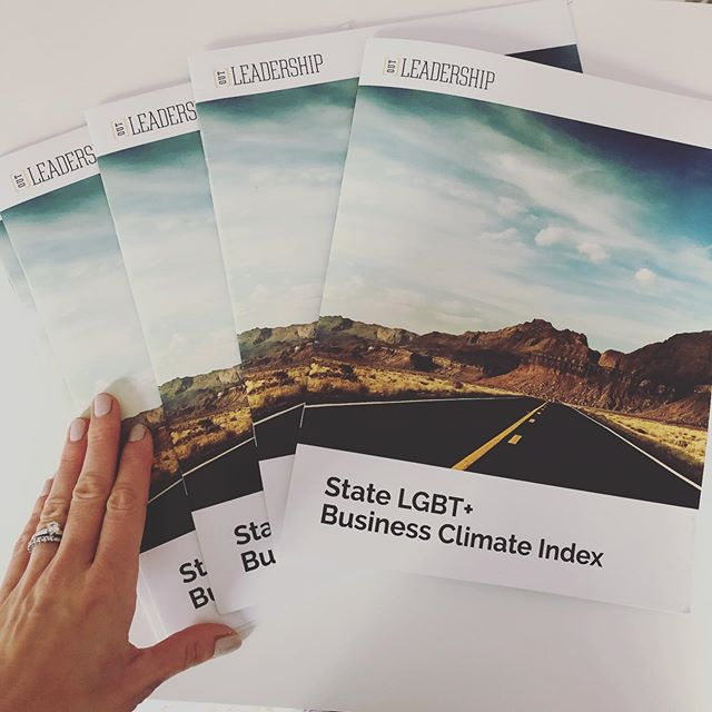 New Work! So proud and excited to collaborate with @outleadership on one of their biggest projects to date! They've done a huge amount of research and work to create this groundbreaking system of assessing each U.S. states' performance on LGBT+ inclusion. Download the full digital report on their website. #newwork #graphicdesign #printisnotdead #carecreative #reportdesign #lgbt