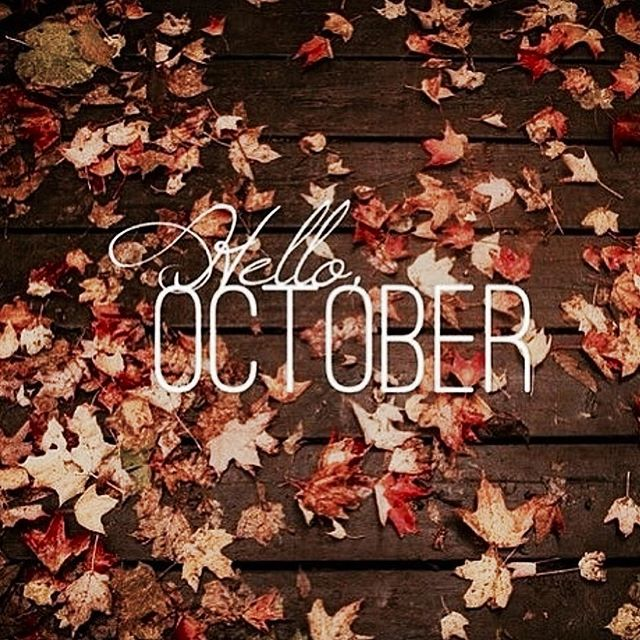 Happy October 1st!! 🍁🎃✨🍂