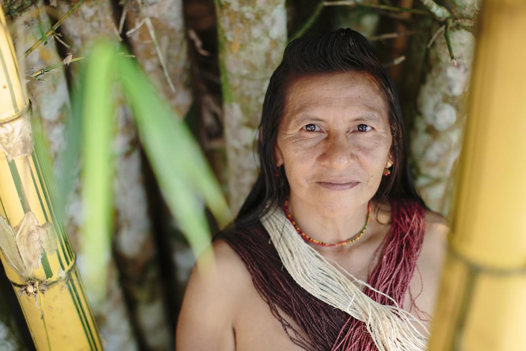 Onguime in her community Nemponare.///Onguime in ihrer Gemeinde Nemonpare