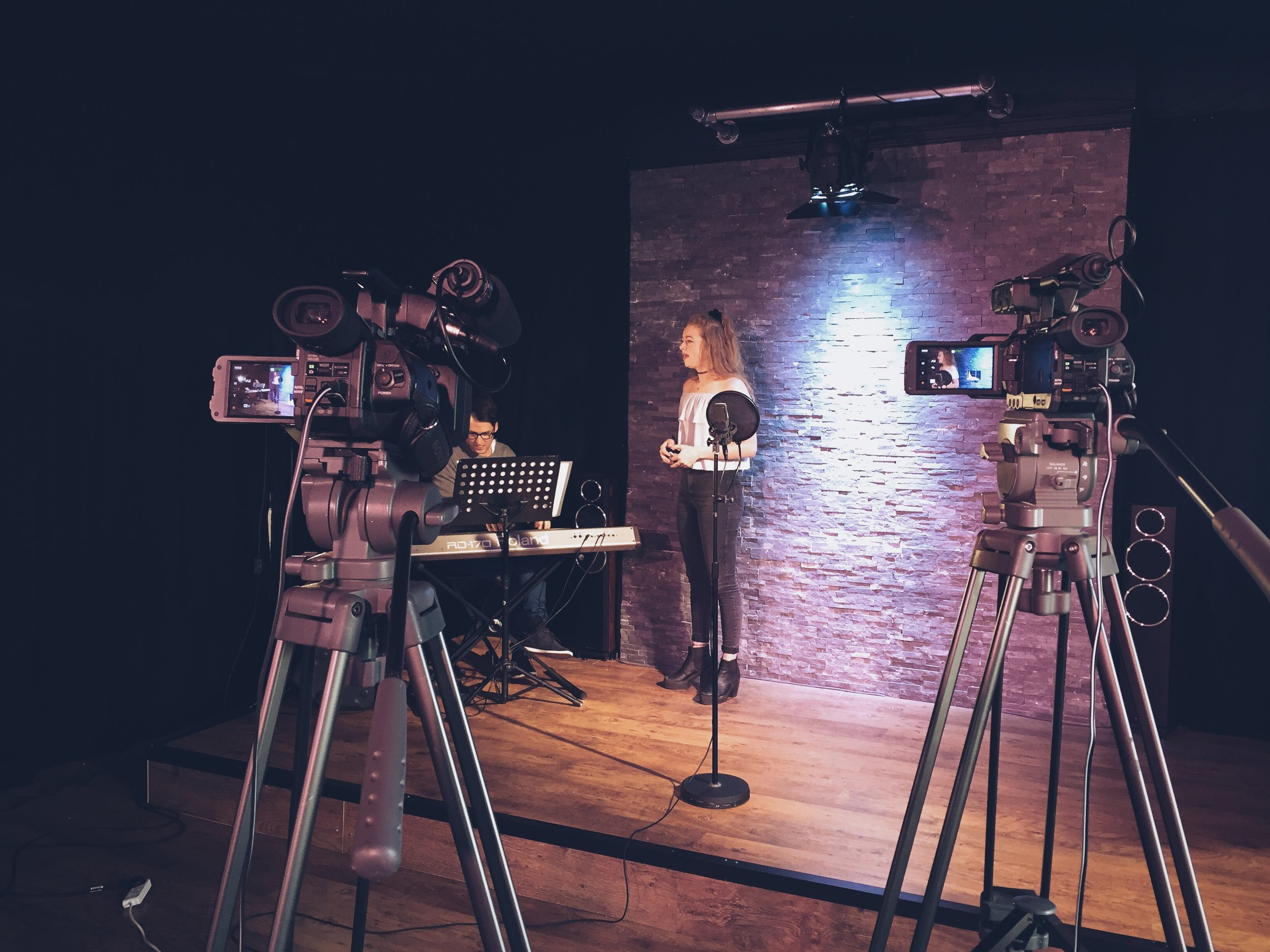 Abbi filming at our October 2015 Audition Sessions Shoot.