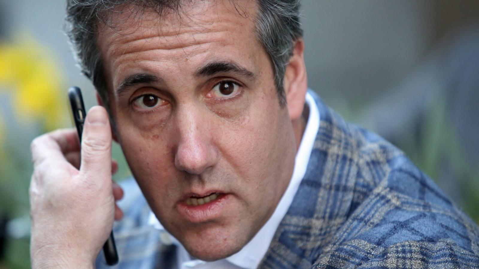 Michael Cohen, U.S. President Donald Trump's personal attorney, takes a call near the Loews Regency hotel on Park Ave on April 13, 2018, in New York City. (Yana Paskova / Getty Images)