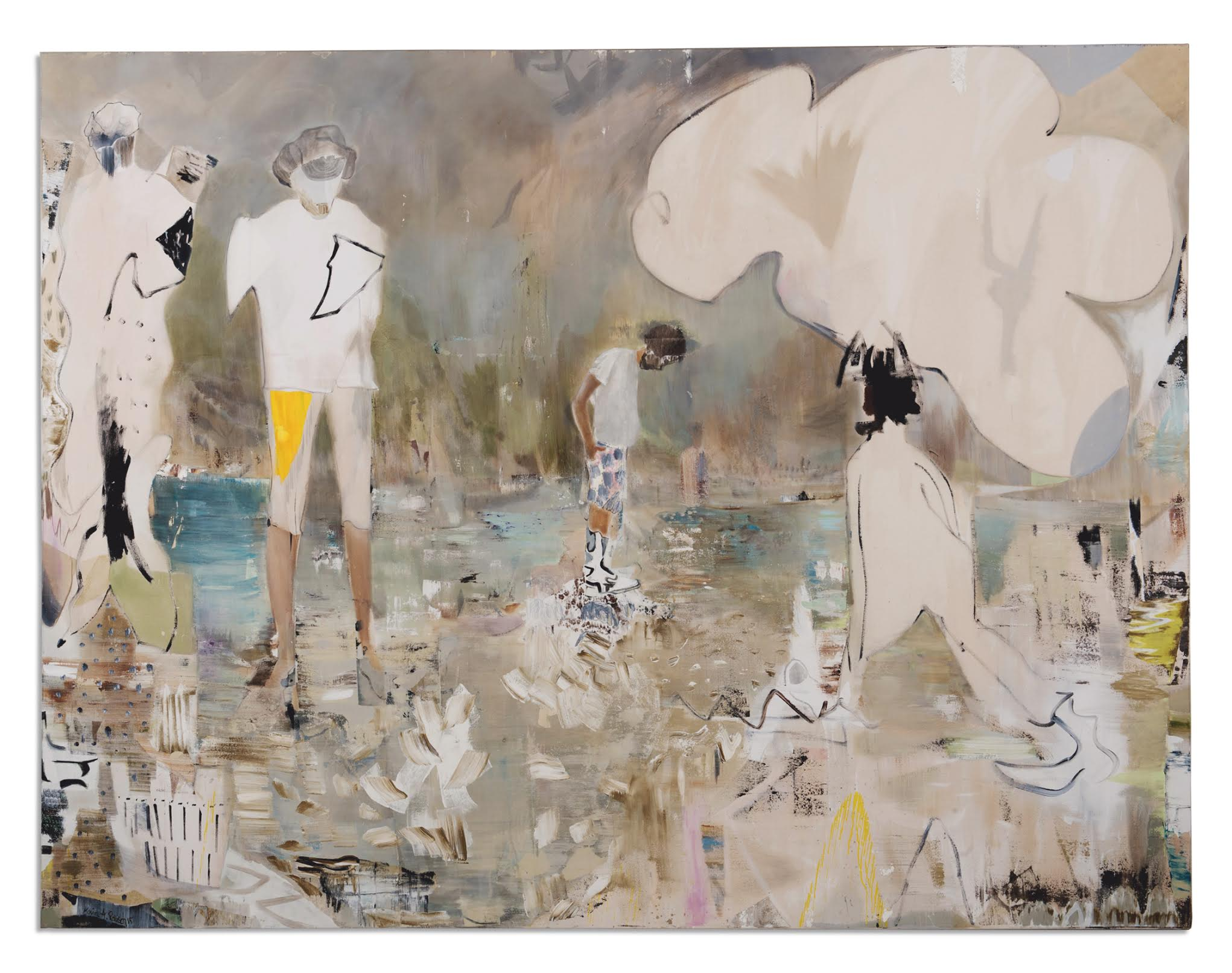 my own summer, 220x270cm, mixed media