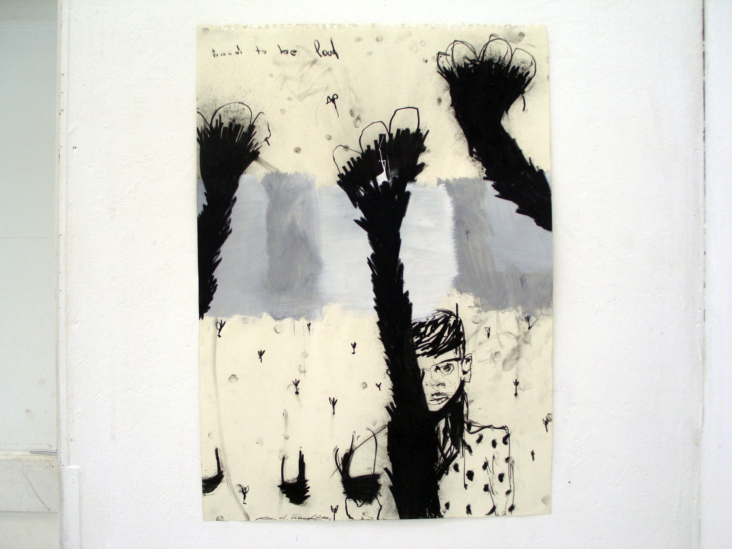 tauro entrada, paper, 84x52cm,2007