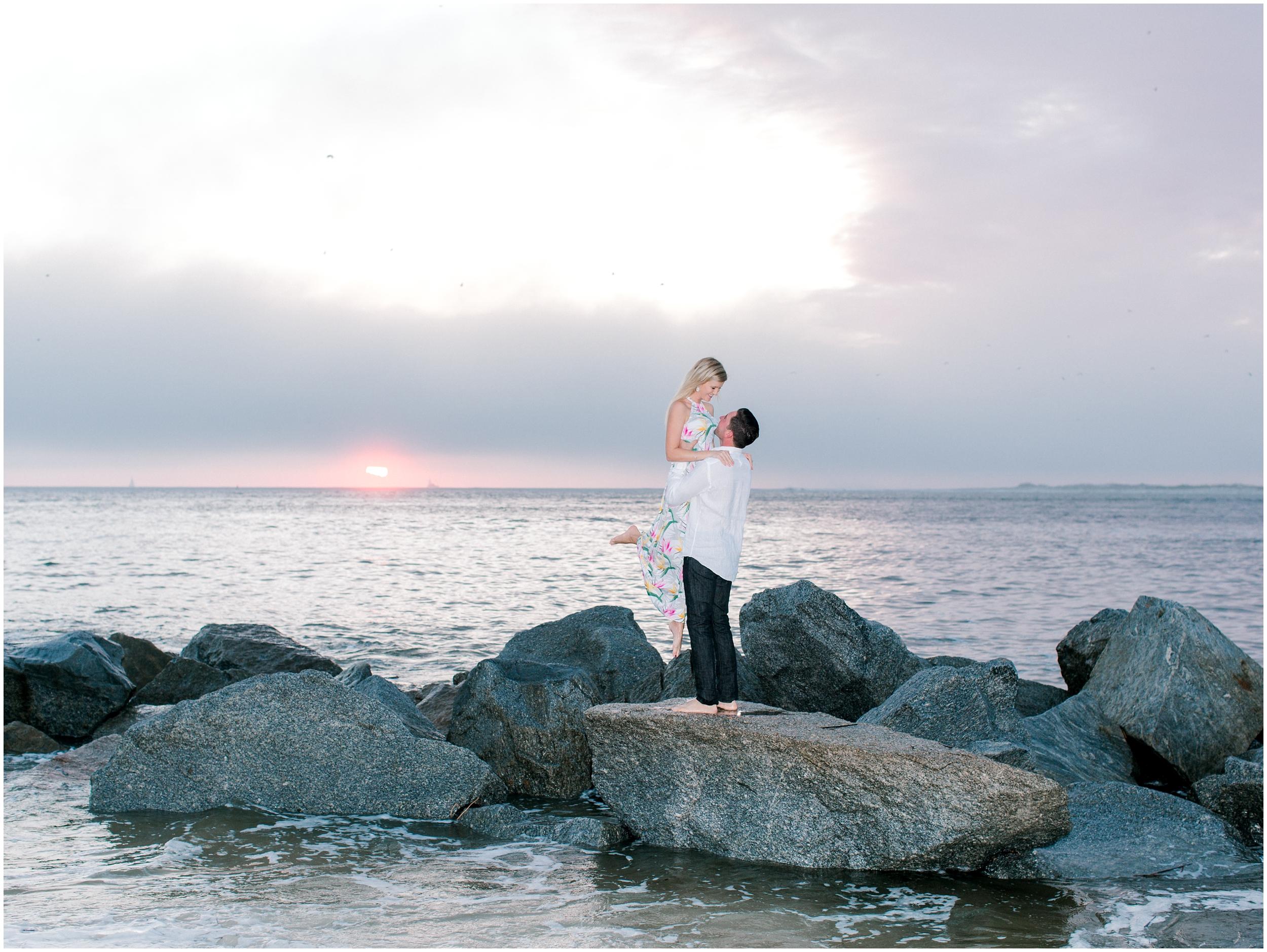 Sunrise Engagement Session at Vilano Beach- Jacksonville, Florida Fine Art Film Wedding Photography_0006.jpg