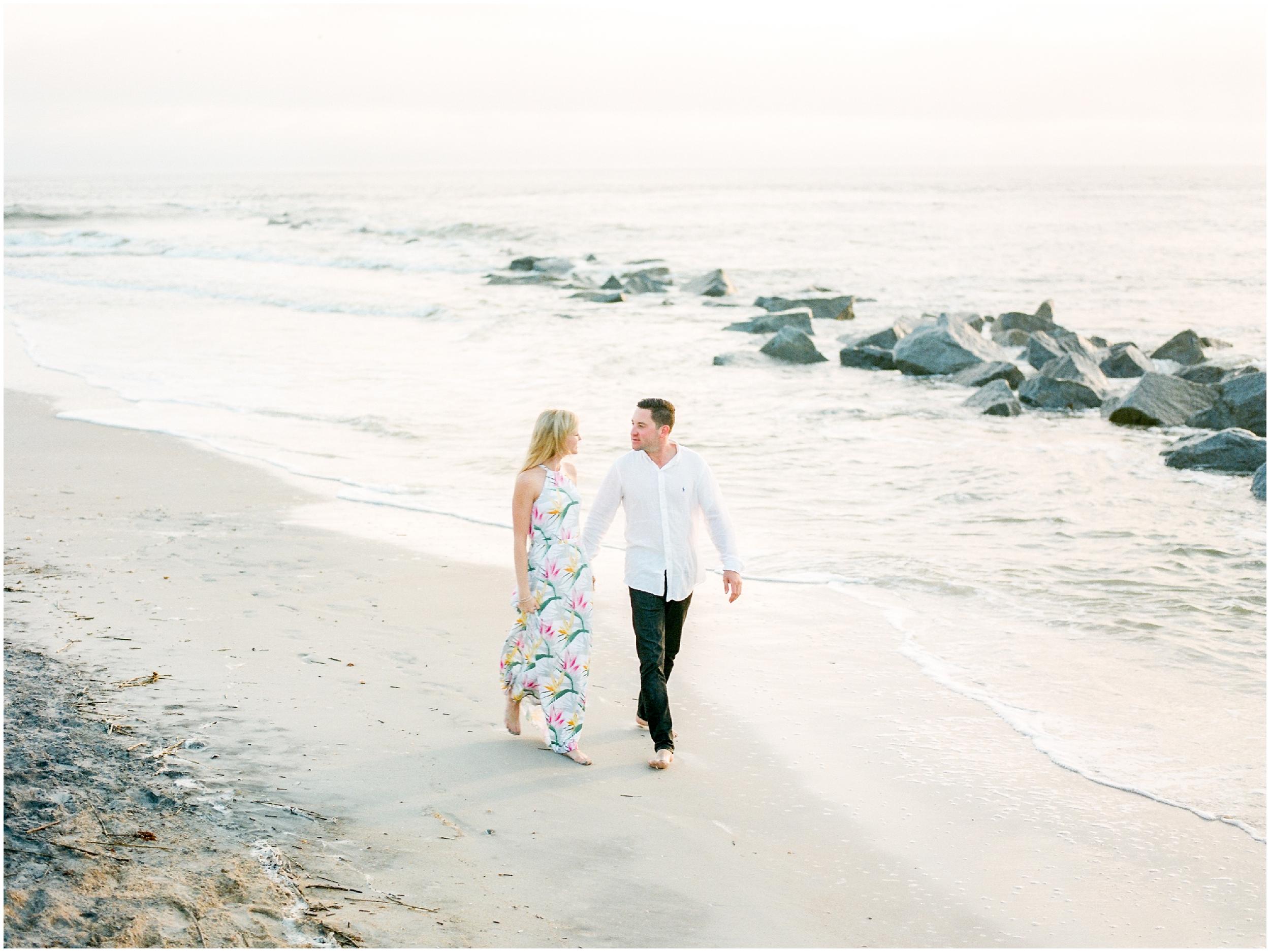 Sunrise Engagement Session at Vilano Beach- Jacksonville, Florida Fine Art Film Wedding Photography_0013.jpg