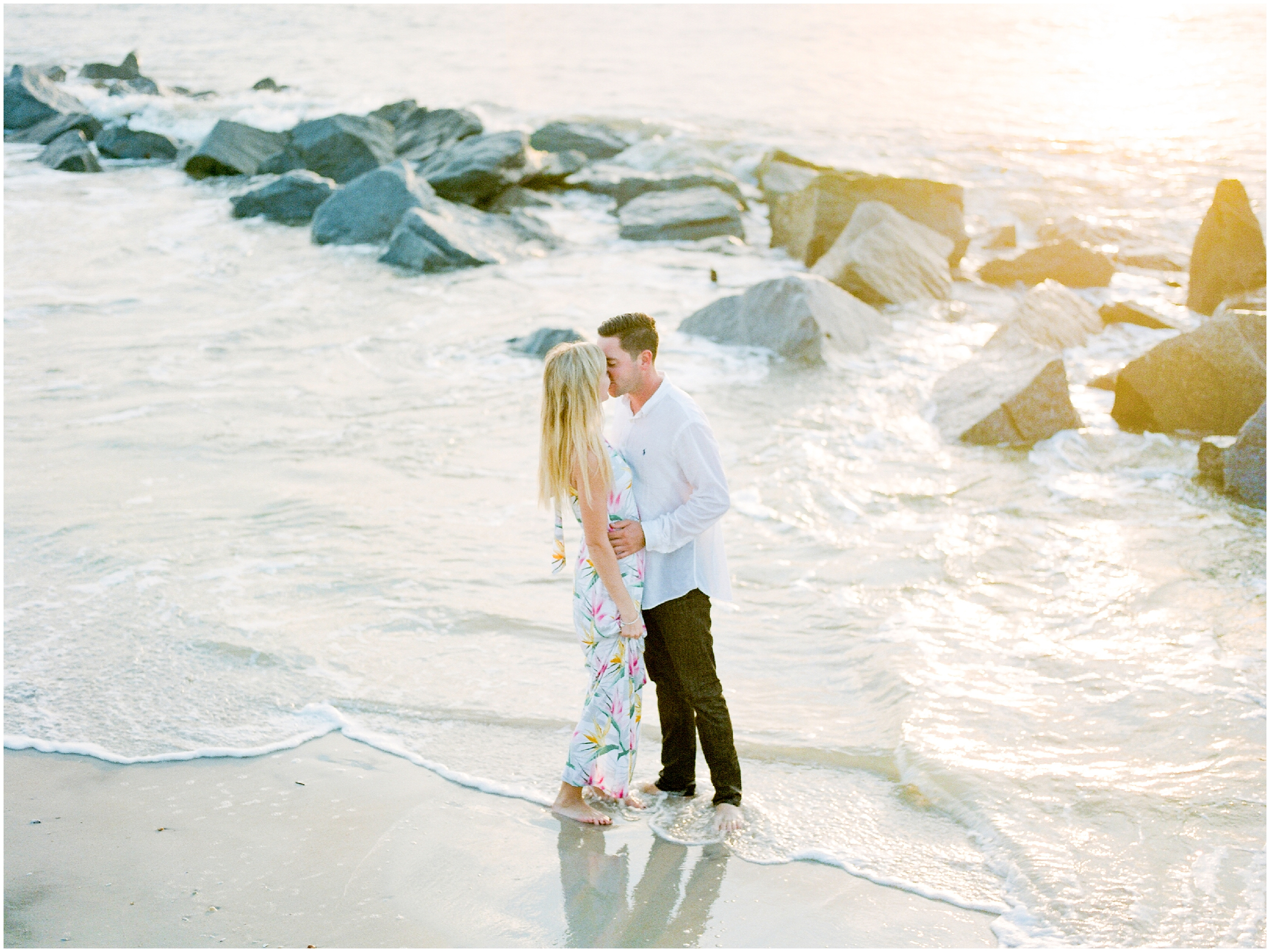 Sunrise Engagement Session at Vilano Beach- Jacksonville, Florida Fine Art Film Wedding Photography_0014.jpg