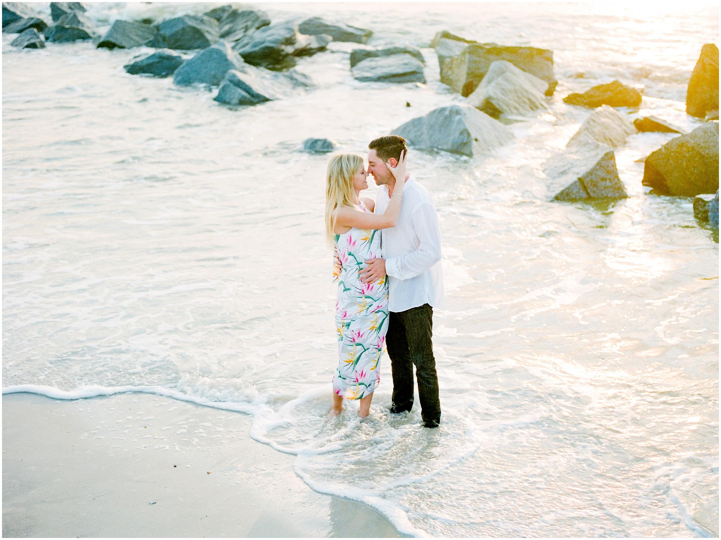 Sunrise Engagement Session at Vilano Beach- Jacksonville, Florida Fine Art Film Wedding Photography_0016.jpg