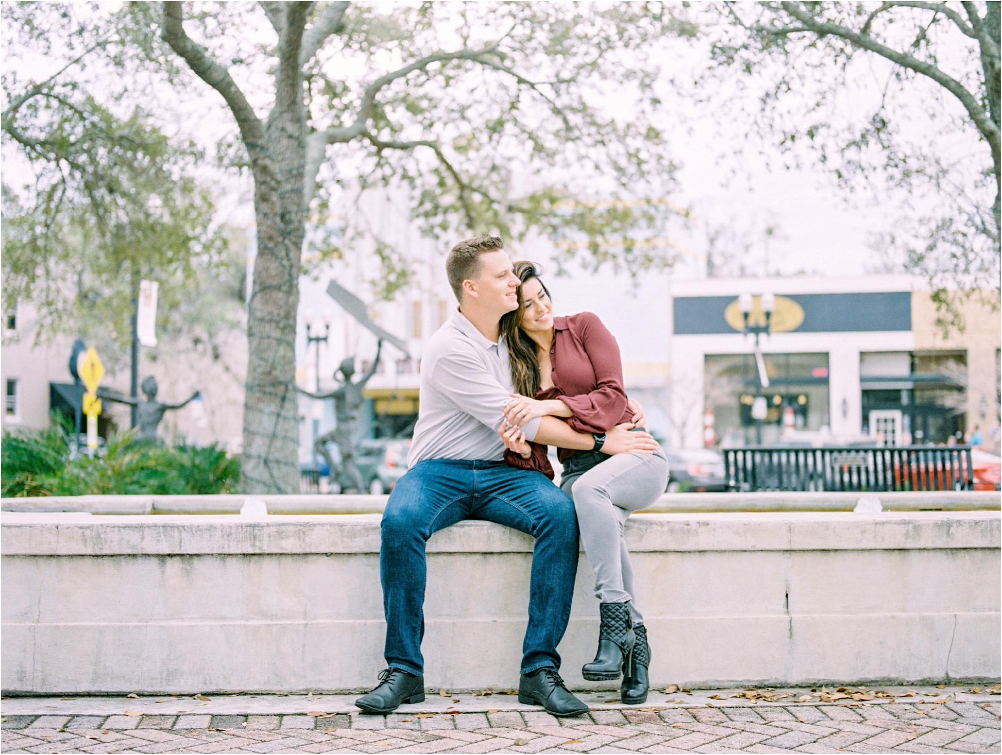 Lisa Silva Photography- Ponte Vedra Beach and Jacksonville, Florida Fine Art Film Wedding Photography- San Marco Jacksonville florida Engagement Session_0026.jpg