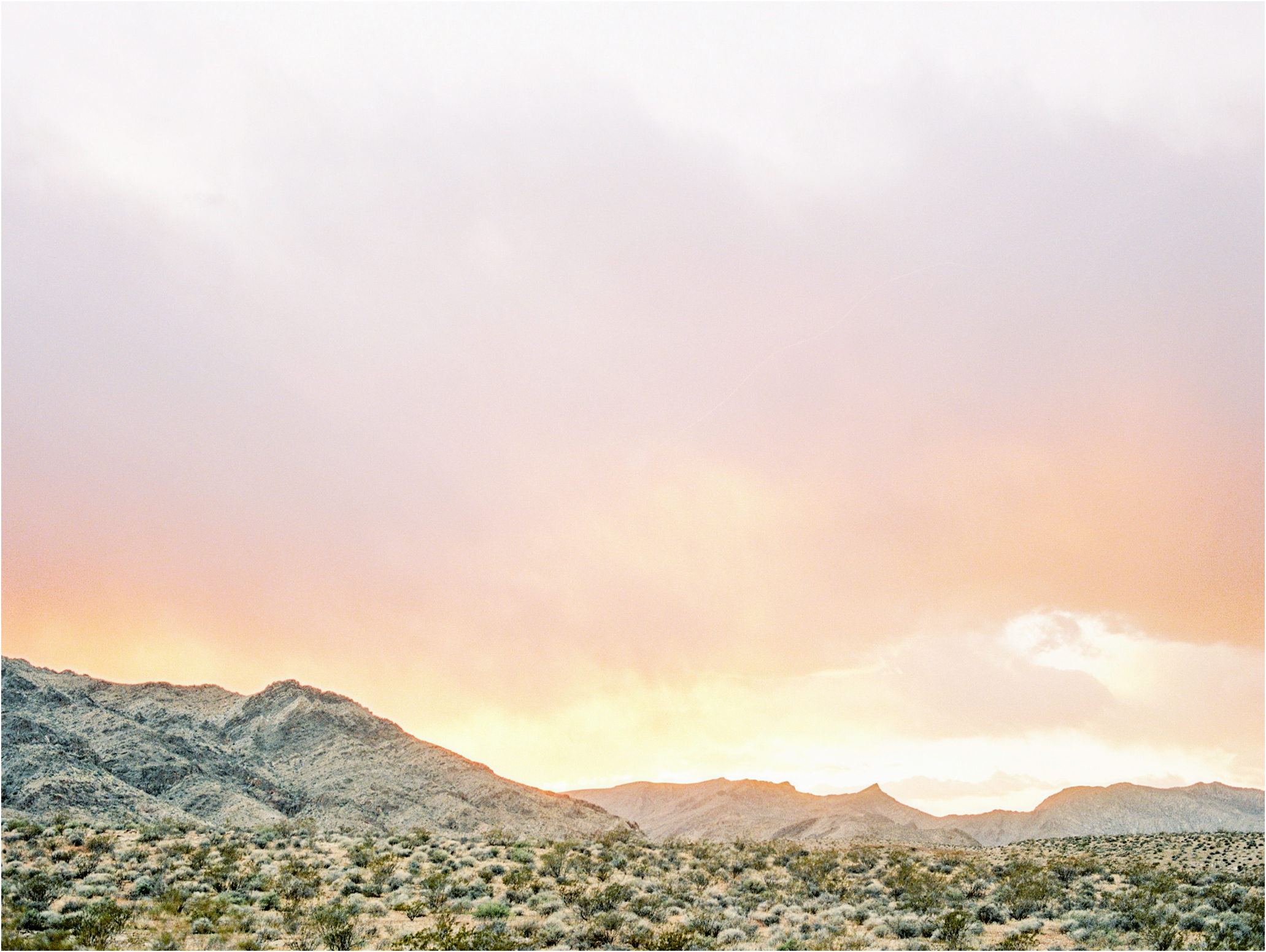 Sunset in Nevada's Valley of Fire | Kodak Portra 800 | scanned by  Goodman Film Lab
