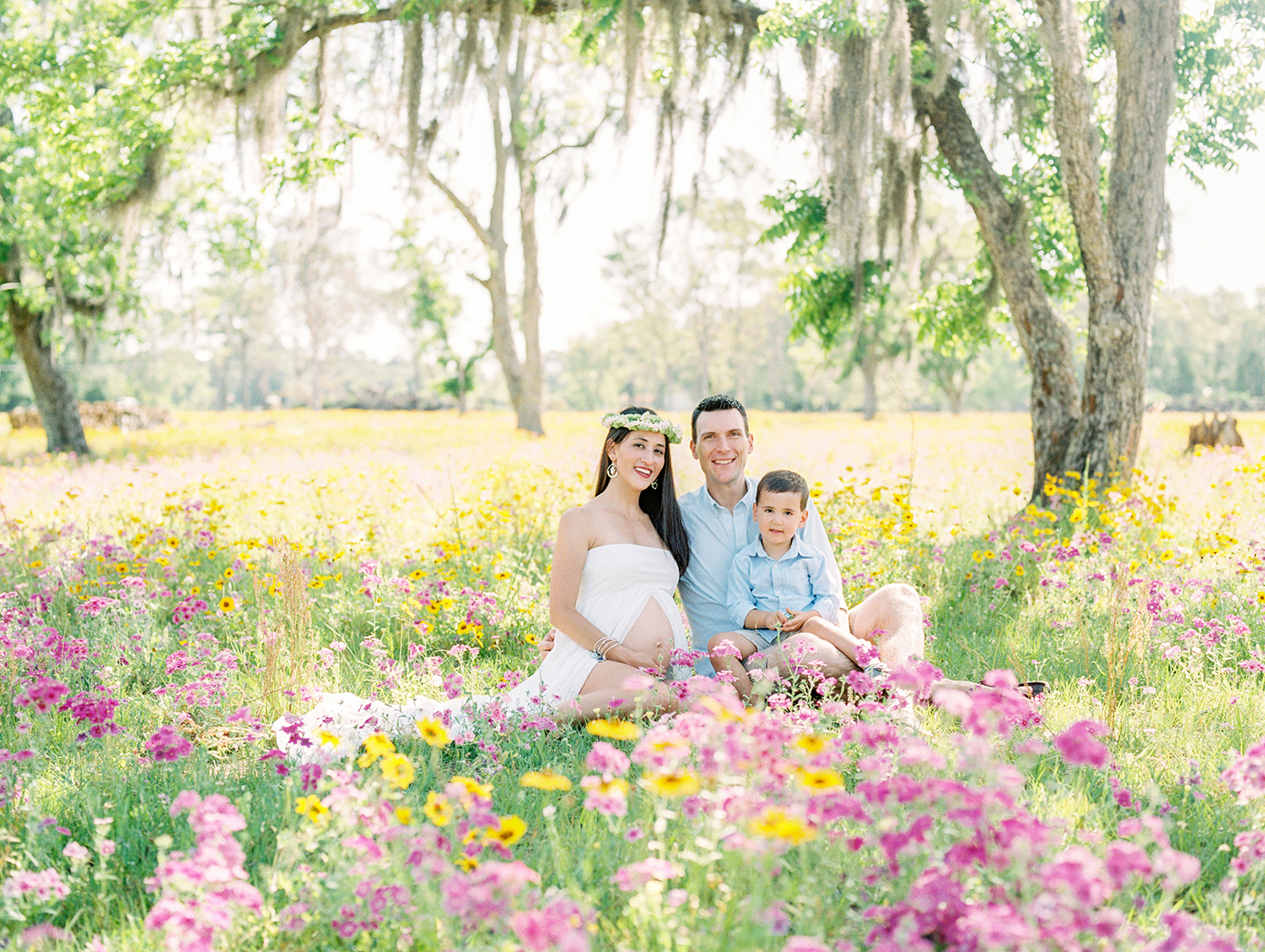 Family Maternity Session in a Flower Field- Lisa Silva Photography- Jacksonville and St. Augustine Florida Fine Art Film Photography- 9.jpg