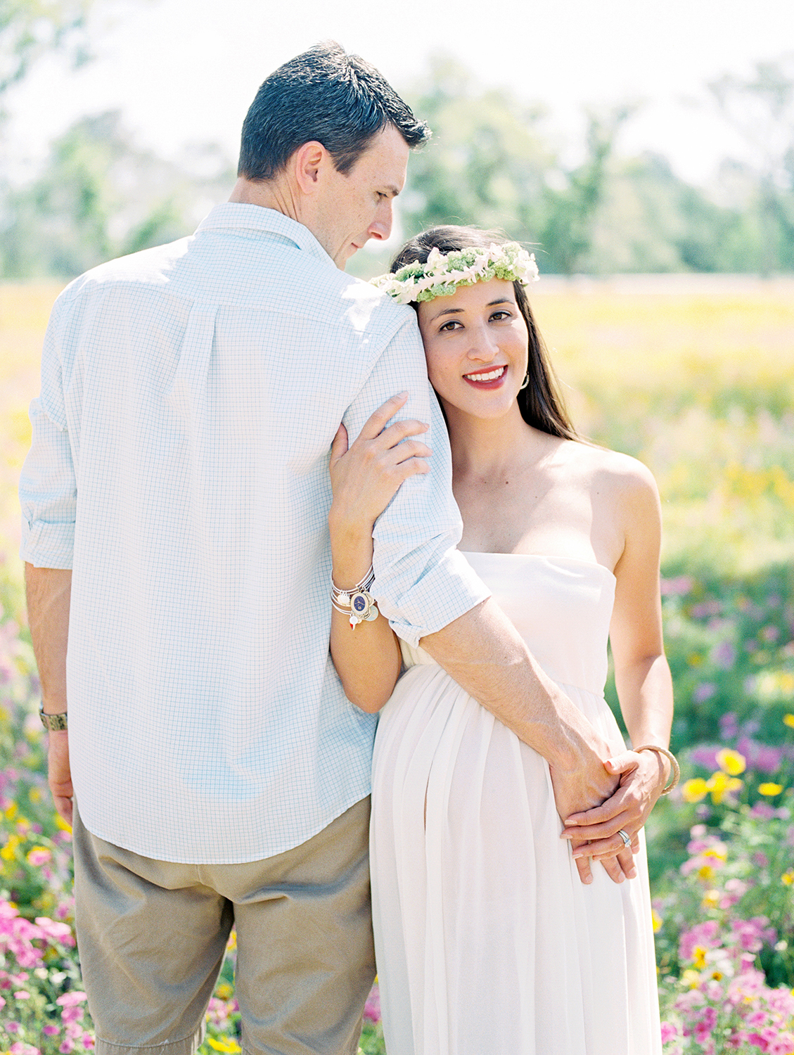 Family Maternity Session in a Flower Field- Lisa Silva Photography- Jacksonville and St. Augustine Florida Fine Art Film Photography- 21.jpg