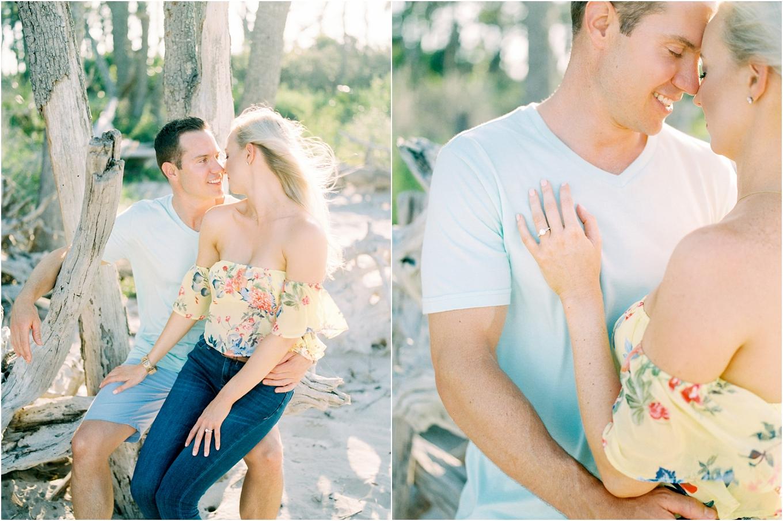 Lisa Silva Photography- Ponte Vedra Beach and Jacksonville, Florida Fine Art Film Wedding Photography- Engagement Shoot at Big Talbot Island_0012.jpg