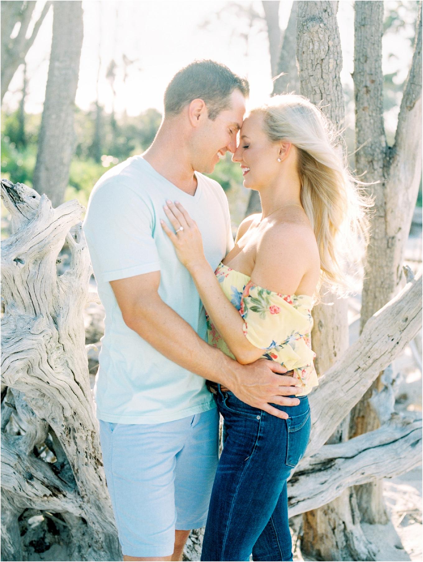 Lisa Silva Photography- Ponte Vedra Beach and Jacksonville, Florida Fine Art Film Wedding Photography- Engagement Shoot at Big Talbot Island_0011.jpg