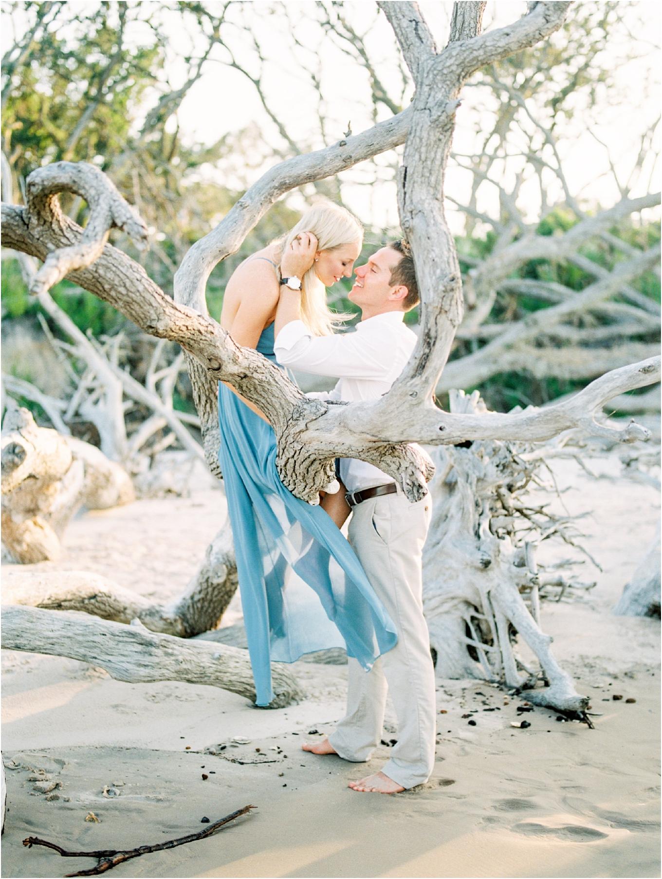 Lisa Silva Photography- Ponte Vedra Beach and Jacksonville, Florida Fine Art Film Wedding Photography- Engagement Shoot at Big Talbot Island_0014.jpg